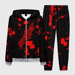 Костюм мужской Skillet: Blood Style цвета 3D-меланж — фото 1