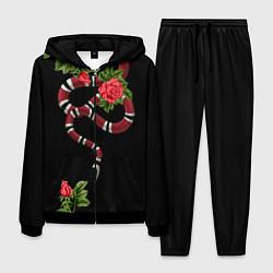 Костюм мужской GUCCI: Snake & Roses цвета 3D-черный — фото 1
