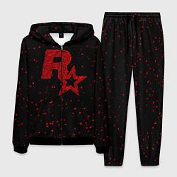 Костюм мужской Rockstar Red цвета 3D-черный — фото 1