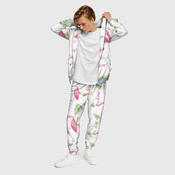 Костюм мужской Lil Peep: Pink Flamingo цвета 3D-меланж — фото 2