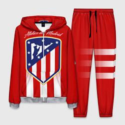 Костюм мужской ФК Атлетико Мадрид цвета 3D-меланж — фото 1