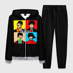 Костюм мужской The Beatles: Pop Art цвета 3D-меланж — фото 1