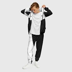 Костюм мужской Balenciaga: White & Black цвета 3D-черный — фото 2