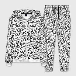 Костюм мужской Balenciaga: White Words цвета 3D-белый — фото 1