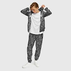 Костюм мужской Balenciaga: Black Pattern цвета 3D-белый — фото 2