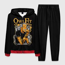 Костюм мужской Owl Fit цвета 3D-красный — фото 1