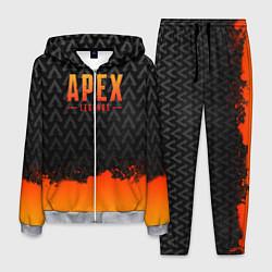 Костюм мужской Apex Legends: Orange Paint цвета 3D-меланж — фото 1