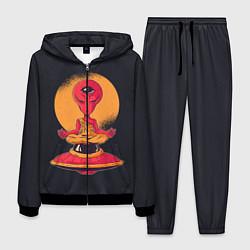Костюм мужской Пришелец-медитатор цвета 3D-черный — фото 1