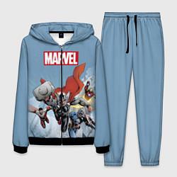 Костюм мужской Marvel Comics цвета 3D-черный — фото 1