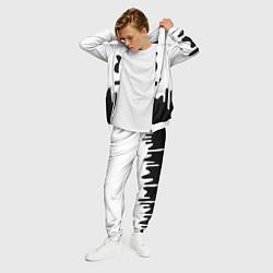 Костюм мужской MELLO BLACK x WHITE цвета 3D-белый — фото 2