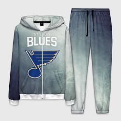 Костюм мужской St Louis Blues цвета 3D-белый — фото 1