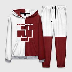 Костюм мужской Rammstein: White & Red цвета 3D-меланж — фото 1