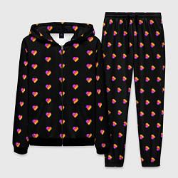 Костюм мужской LIKEE LIKE Video - Сердечки цвета 3D-черный — фото 1