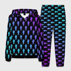 Костюм мужской Billie Eilish: Neon Pattern цвета 3D-черный — фото 1
