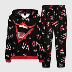 Костюм мужской Laughter: Ha-ha-ha цвета 3D-красный — фото 1