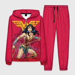 Костюм мужской Wonder Woman цвета 3D-красный — фото 1