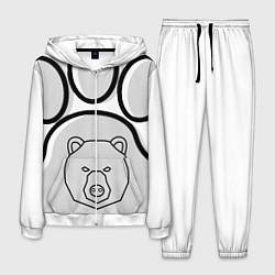 Костюм мужской Душа севера - след медведя цвета 3D-белый — фото 1