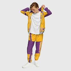 Костюм мужской Los Angeles Lakers цвета 3D-меланж — фото 2