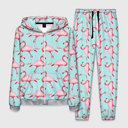 Костюм мужской Фламинго цвета 3D-меланж — фото 1