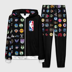 Костюм мужской NBA Team Logos 2 цвета 3D-белый — фото 1