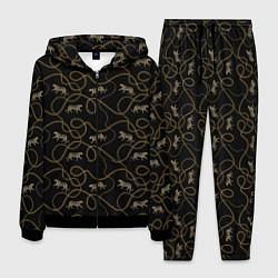 Костюм мужской Versace Леопарды и цепи цвета 3D-черный — фото 1