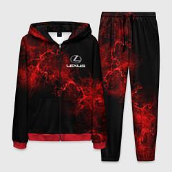Костюм мужской LEXUS цвета 3D-красный — фото 1