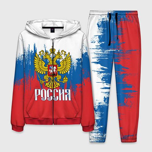Мужской костюм РОССИЯ ТРИКОЛОР / 3D-Красный – фото 1