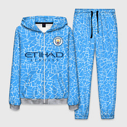 Костюм мужской Manchester City 2021 Home Kit цвета 3D-меланж — фото 1