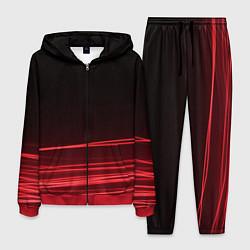 Костюм мужской Красное и Черное цвета 3D-красный — фото 1