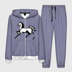 Костюм мужской Дикая лошадь цвета 3D-белый — фото 1