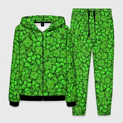 Костюм мужской Зелёный клевер цвета 3D-черный — фото 1