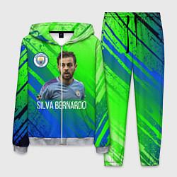 Костюм мужской Бернарду Силва Манчестер Сити цвета 3D-меланж — фото 1