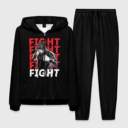 Костюм мужской FIGHT цвета 3D-черный — фото 1
