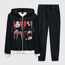 Костюм мужской BLACKPINK Red and black цвета 3D-белый — фото 1