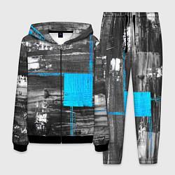 Костюм мужской Абстракция цвета 3D-черный — фото 1