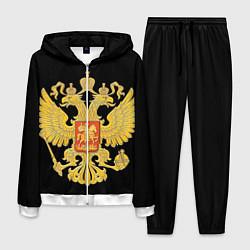 Костюм мужской Герб России: золото цвета 3D-белый — фото 1