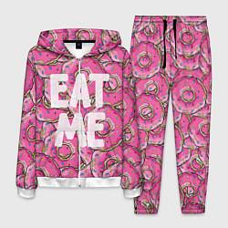 Костюм мужской Eat me, Homer цвета 3D-белый — фото 1