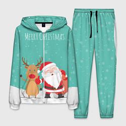 Костюм мужской Merry Christmas цвета 3D-белый — фото 1