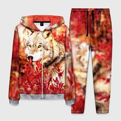 Костюм мужской Осенний волк цвета 3D-меланж — фото 1