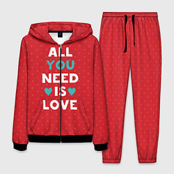 Костюм мужской All you need is love цвета 3D-черный — фото 1