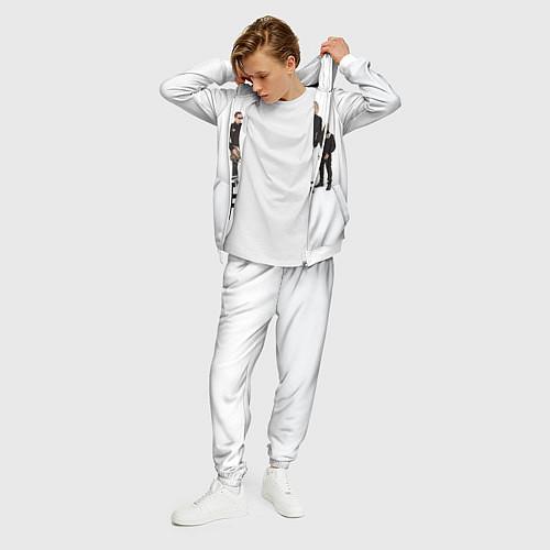 Мужской костюм Группа Пикник / 3D-Белый – фото 3
