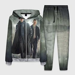 Костюм мужской Шерлок и Доктор цвета 3D-меланж — фото 1