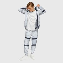 Костюм мужской Рубашка с подтяжками цвета 3D-меланж — фото 2