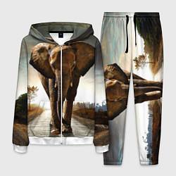 Костюм мужской Дикий слон цвета 3D-белый — фото 1
