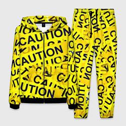 Костюм мужской Caution цвета 3D-черный — фото 1