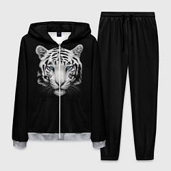Костюм мужской Голова белого тигра цвета 3D-меланж — фото 1