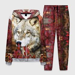 Костюм мужской Волк в кустах цвета 3D-меланж — фото 1