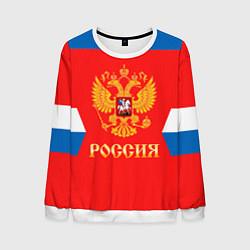 Свитшот мужской Сборная РФ: домашняя форма цвета 3D-белый — фото 1
