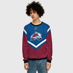 Свитшот мужской NHL: Colorado Avalanche цвета 3D-черный — фото 2