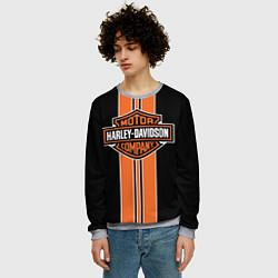 Свитшот мужской Harley-Davidson цвета 3D-меланж — фото 2